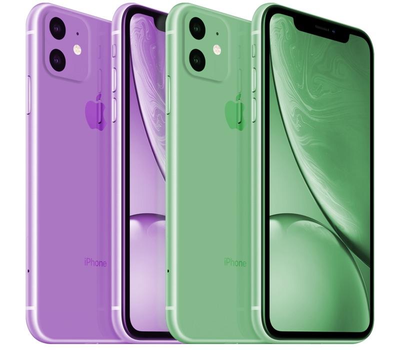 iphone 11 mor ve yeşil renk